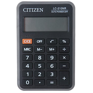 Калькулятор Citizen LC 210NR