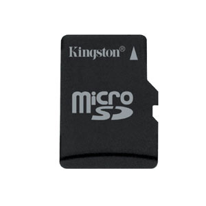 Карта памяти micro-SD Kingston 8GB class 4 + адаптер