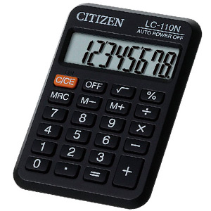 Калькулятор Citizen LC 110 N
