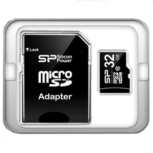 Карта памяти micro-SD Silicon Power 32GB class 10 + адаптер